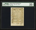 Colonial Notes:Rhode Island, Rhode Island May 1786 9d PMG About Uncirculated 55 Net.. ...