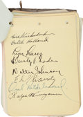Autographs:Others, 1930's Baseball Autograph Collection with Dozens of Hall ofFamers....