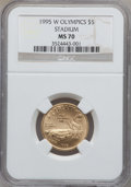 Modern Issues, 1995-W G$5 Olympic/Stadium Gold Five Dollar MS70 NGC....