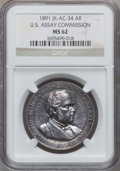 Assay Medals, 1891 U.S. Assay Medal, Silver MS62 NGC. JK-AC-34....