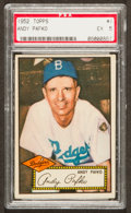 Baseball Cards:Singles (1950-1959), 1952 Topps Andy Pafko, Red Back #1 PSA EX 5....