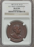 Assay Medals, 1891 U.S. Assay Medal, Copper MS65 Brown NGC. JK-AC-34....
