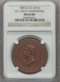 Assay Medals, 1885 U.S. Assay Medal, Copper MS64 Brown NGC. JK-AC-28....