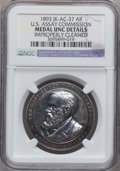 Assay Medals, 1893 U.S. Assay Medal, Silver -- Improperly Cleaned -- NGC Details.Unc. JK-AC-37....