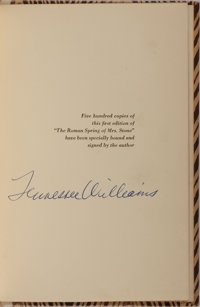 Tennessee Williams. LIMITED/SIGNED. The Roman Spring of Mrs. Stone. A New Directions