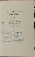 Books:Fiction, Edward Albee. SIGNED BY THE AUTHOR AND CAST. A DelicateBalance. Athenaeum, 1966. First edition. Signed by the a...