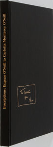 Books:Biography & Memoir, [Eugene O'Neill]. LIMITED. Inscriptions: Eugene O'Neill toCarlotta Monterey O'Neill. Privately printed, 1960. L...