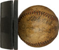 Autographs:Baseballs, 1930 Babe Ruth & Connie Mack Signed Baseball....