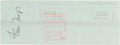 Autographs:Checks, 1984 Willie Mays Signed (Endorsed) Check....