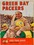 Football Collectibles:Publications, 1962 Green Bay Packers Rare Red Variation Yearbook. ...