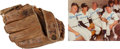 Baseball Collectibles:Others, 1950's Billy Martin Game Used Fielder's Glove with Yankee LegendsSigned Photo Match....
