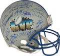 Football Collectibles:Helmets, 1967-2012 Super Bowl MVP Multi Signed Full Sized Helmet - Only Missing Flacco and Davis....
