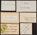 Football Collectibles:Others, Football Coaching Legends Signed Cut Signatures, etc. Lot of 6....