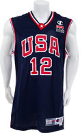 Basketball Collectibles:Uniforms, 2000 Ray Allen Game Worn, Signed Olympics Jersey - From Gold MedalWinning Performance!...