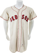 Baseball Collectibles:Uniforms, 1961 Rudy York Game Worn Boston Red Sox Coach's Jersey....