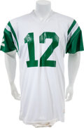 Football Collectibles:Uniforms, Circa 1972-76 Joe Namath Game Worn New York Jets Jersey and Sideline Beanie. ...