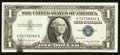 Error Notes:Ink Smears, Fr. 1621 $1 1957B Silver Certificate. About Uncirculated.. ...
