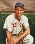 Baseball Collectibles:Others, Circa 2010 Ted Williams Original Artwork by Ron Stark....