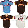Baseball Collectibles:Uniforms, 1980's Montreal Expos, Minnesota Twins & San Diego Padres Game Worn Jerseys - Lot of 4. ...