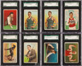 "Baseball Cards:Lots, 1912 T227 Honest Long Cut & Miners Extra ""Series of Champions""SGC-Graded Collection (8). ..."