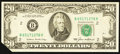 Error Notes:Foldovers, Fr. 2075-B $20 1985 Federal Reserve Note. Choice CrispUncirculated.. ...
