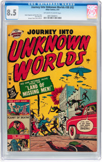 Journey Into Unknown Worlds #38 (#3) (Atlas, 1951) CGC VF+ 8.5 Off-white to white pages