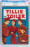 Golden Age (1938-1955):Humor, Four Color #55 Tillie the Toiler (Dell, 1944) CGC NM- 9.2 Off-white to white pages....