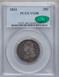 Bust Quarters: , 1834 25C VG8 PCGS. CAC. PCGS Population (1/646). NGC Census:(5/493). Mintage: 286,000. Numismedia Wsl. Price for problem f...