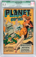 Golden Age (1938-1955):Science Fiction, Planet Comics #57 (Fiction House, 1948) CGC Qualified VF+ 8.5Off-white pages....