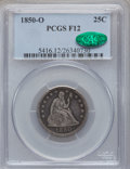 Seated Quarters: , 1850-O 25C Fine 12 PCGS. PCGS Population (5/70). NGC Census:(0/64). Mintage: 412,000. Numismedia Wsl. Price for problem fr...