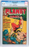Golden Age (1938-1955):Science Fiction, Planet Comics #62 (Fiction House, 1949) CGC VF- 7.5 Off-whitepages....
