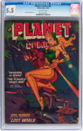 Golden Age (1938-1955):Science Fiction, Planet Comics #66 (Fiction House, 1952) CGC FN- 5.5 Off-whitepages....