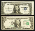 Error Notes:Error Group Lots, Fr. 1613N $1 1935D Narrow Silver Certificate. Very Fine;. Fr.1911-C $1 1981 Federal Reserve Note. Very Fine.. ... (Total: 2notes)