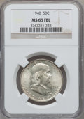 Franklin Half Dollars: , 1948 50C MS65 Full Bell Lines NGC. NGC Census: (841/111). PCGSPopulation (2105/338). Numismedia Wsl. Price for problem fr...