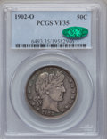 Barber Half Dollars: , 1902-O 50C VF35 PCGS. CAC. PCGS Population (16/109). NGC Census:(3/89). Mintage: 2,526,000. Numismedia Wsl. Price for prob...