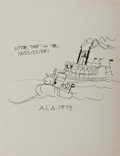 Autographs:Authors, Hardie Gramatky. Original Unsigned Drawing of Little Toot. Done atan American Library Association event in 1973 to promote ...