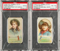 """Non-Sport Cards:Singles (Pre-1950), 1888 N184 Kimball """"Champions Of Games And Sports"""" Annie Oakley& Smith PSA Graded Pair (2). ..."""