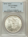 Morgan Dollars: , 1878 7/8TF $1 Strong MS62 PCGS. PCGS Population (1172/4098). NGCCensus: (897/2640). Mintage: 544,000. Numismedia Wsl. Pric...