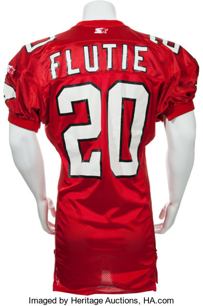 save off f73d9 9568c 1993 Doug Flutie Game Issued Calgary Stampeders Jersey ...