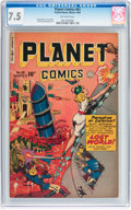 Golden Age (1938-1955):Science Fiction, Planet Comics #63 (Fiction House, 1949) CGC VF- 7.5 Off-whitepages....