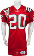 Football Collectibles:Uniforms, 1993 Doug Flutie Game Issued Calgary Stampeders Jersey....