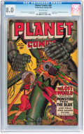 Golden Age (1938-1955):Science Fiction, Planet Comics #64 (Fiction House, 1950) CGC VF 8.0 Off-whitepages....
