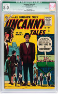 Golden Age (1938-1955):Horror, Uncanny Tales #29 (Atlas, 1955) CGC Qualified VF 8.0 Off-whitepages....
