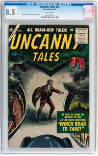 Uncanny Tales #42 (Atlas, 1956) CGC VF+ 8.5 White pages