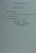 Autographs:Authors, Ellen Glasgow, American Writer. Typed Letter Signed. Very good....