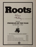 Autographs:Authors, Alex Haley, American Writer. Signed Promotional Hand-Out for Roots. Very good....