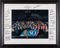 Basketball Collectibles:Photos, 1996-97 NBA's 50 Greatest Players Multi Signed Oversized Photograph (33 Signatures). ...