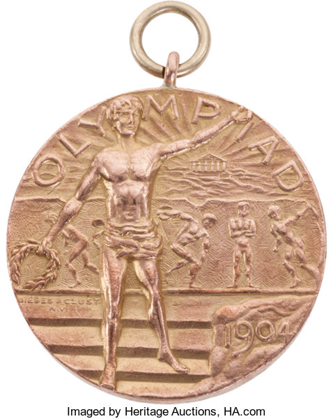 Miscellaneous Collectibles:General, 1904 St. Louis Summer Olympics Gold Medal....