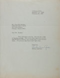 Autographs:Authors, Shirley Ann Grau, American Writer. Typed Letter Signed to Van AllenBradley. Very good....