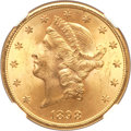 Liberty Double Eagles, 1898-S $20 MS64+ NGC. CAC....